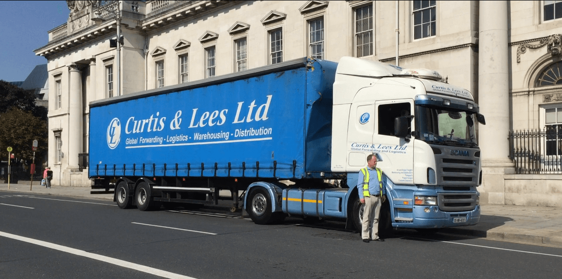 Curtis & Lees Ltd's truck on the Custom House Quay (Dublin 2016)